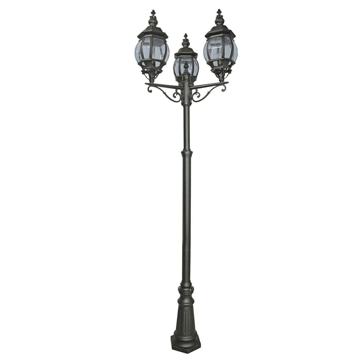 Bel Aire 2200 mm 3 Light Outdoor Post Lamp Black