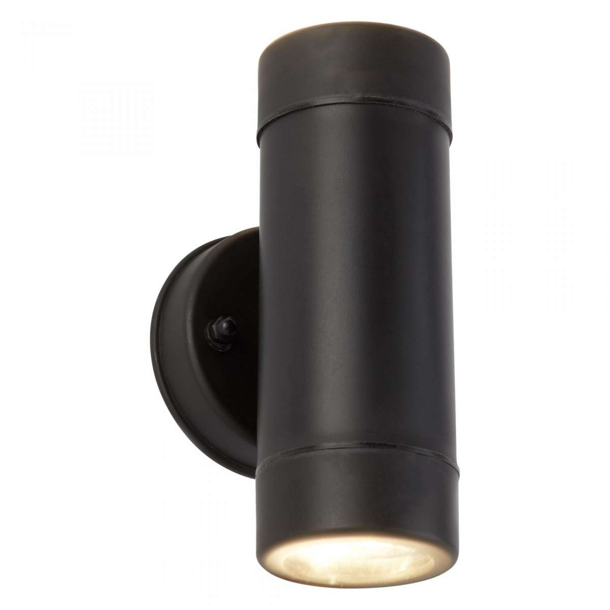 Black 6W LED Cylinder 2 Light Up & Down Wall Light