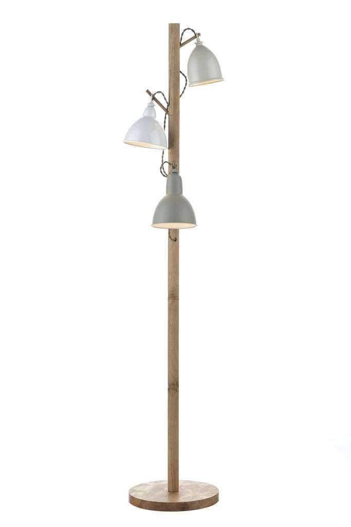 Blyton 3-Light Painted Floor Lamp