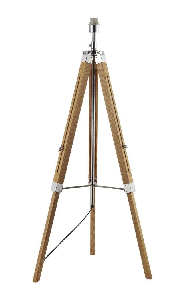 Easel Wooden Floor Lamp Only