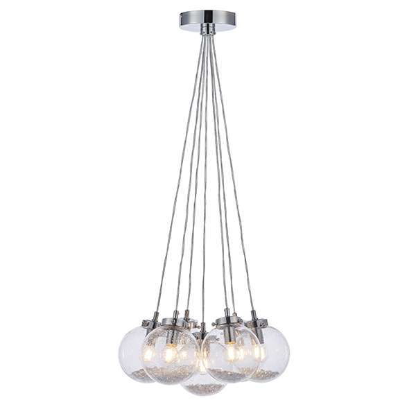 Harbour Clear Glass 7 Light Pendant