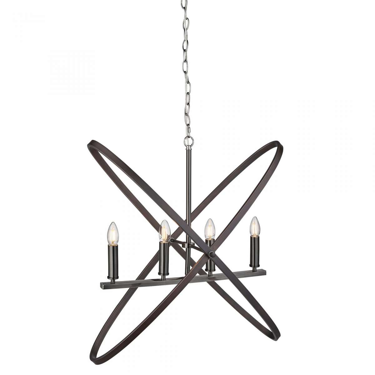 Hoopla 4 Light Pendant Pewter