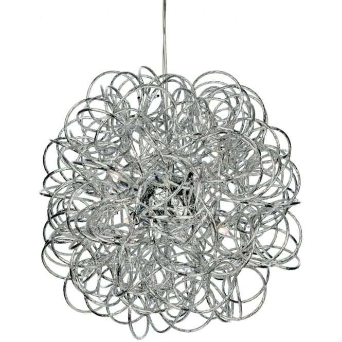Firstlight 3476ch Industrial Chrome Messy Wire Ceiling Pendant Light Jr Lighting