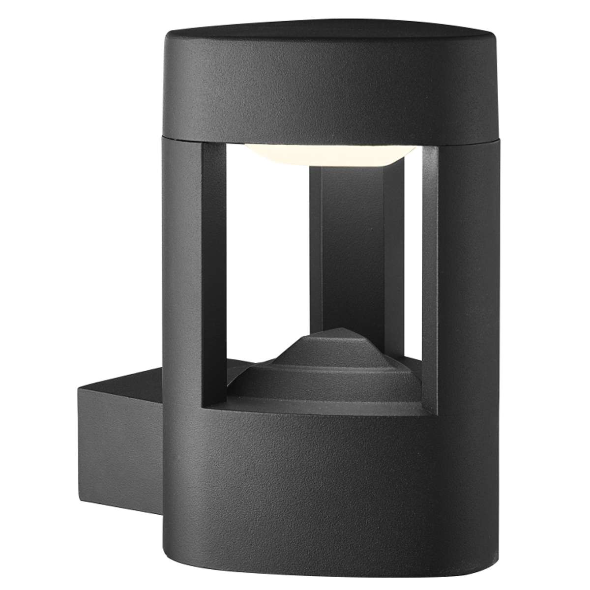 Outside Wall Lights Grey : Ip44 Grey Led Outdoor Wall Light With Clear Diffuser jrlighting.co.uk