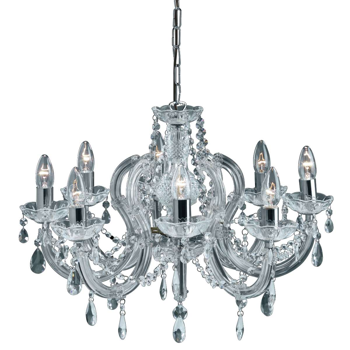 Marie Therese 8-Light Crystal Fitting