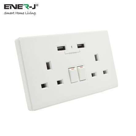 13A Wifi Twin Wall Sockets With 2 USB Ports