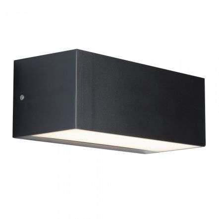14W LED Dark Grey Outdoor Wall Bracket