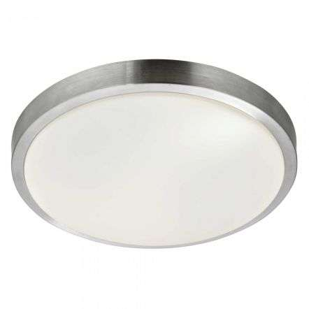 18W LED 330mm Flush Bathroom Light IP44 Aluminium Trim