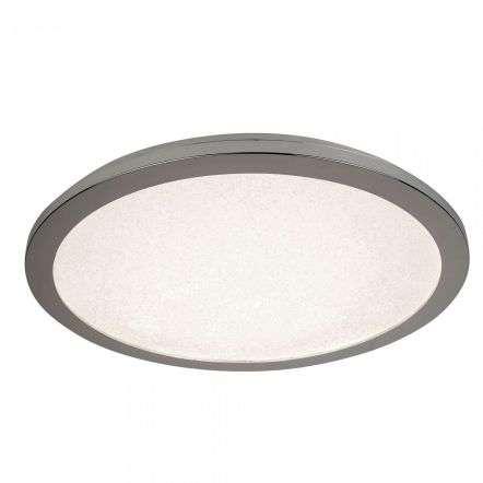 18W LED Flush Ceiling Light 300mm Chrome And Crystal Sand
