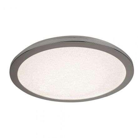 24W LED Flush Ceiling Light 400mm Chrome And Crystal Sand