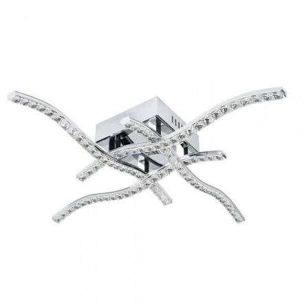 4204-4CC Anson 4 Arm 19W LED Crystal Trim Ceiling Flush