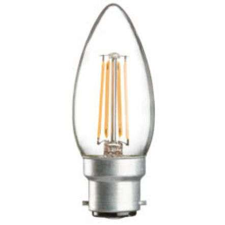 4 Watt LED 35mm Candle BC Clear | Online Lighting Shop