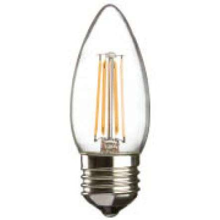 4 Watt LED 35mm Candle ES Clear | Online Lighting Shop