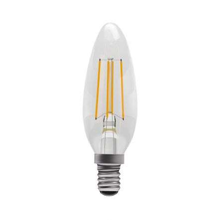 4W LED Clear Glass Cool White Candle E14