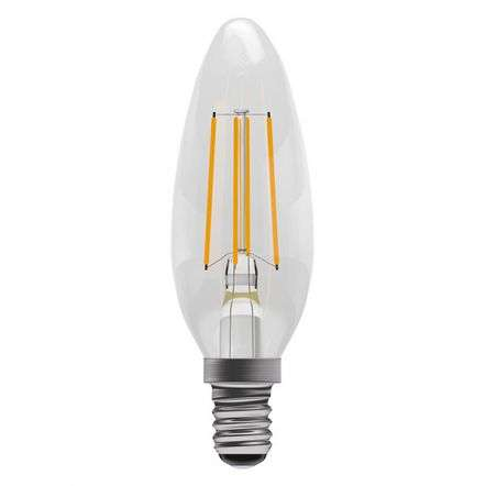 4W LED Dimmable Filament Candle - SES, Clear, 2700K