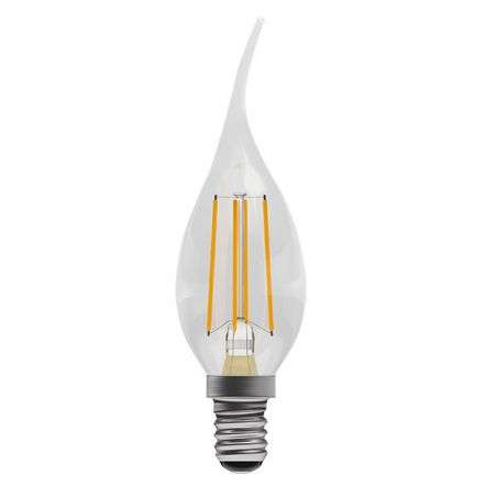 4W LED Filament Bent Tip Candle SES Clear 2700K