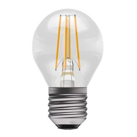 4W LED Filament Round Golfball ES Clear 2700K