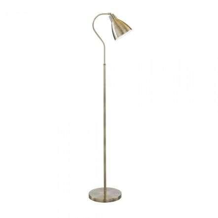 5026AB Adjustable Floor Lamp Antique Brass | Onlinelightingshop.co.uk