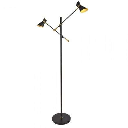 5962-2BG Diablo Spotlight 8W LED Floor Lamp Matt Black and Gold