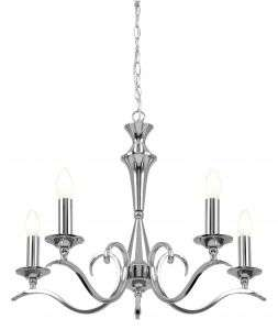 Kora 5-Light Polished Chrome Fitting