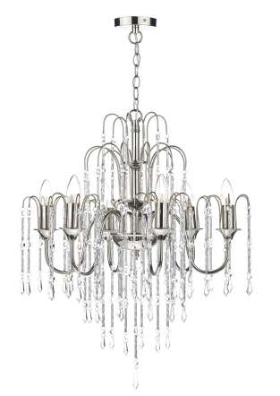 Daniella 6-Light Polished Nickel And Crystal Fitting