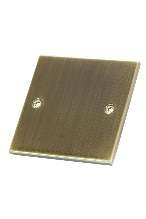 Selectric 1 Gang Antique Brass Slimline Blanking Plate