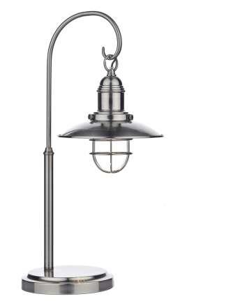 Terrace 1-Light Antique Chrome Table Lamp
