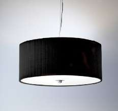 Zaragoza Black pleated hard shade with chrome fittings