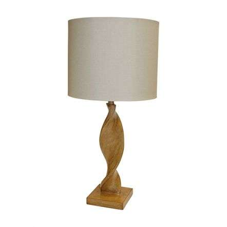 Abia Wooden Table Lamp C/W Shade