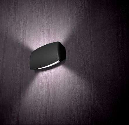 Abram 190 8W Up and Down LED Wall Light Black