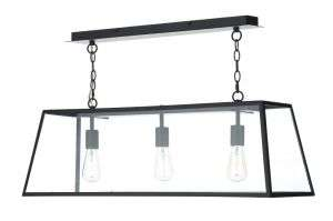 Academy 3-Light Black Pendant