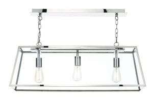 Academy 3-Light Stainless Steel Pendant