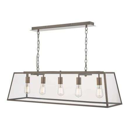 Academy 5 Light Pendant Antique Copper