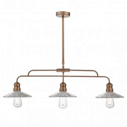 Adeline Bar Pendant Brushed Copper & Glass
