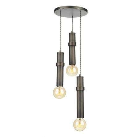 Adling 3 Light Pendant Antique Brass