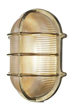 Large wall lights large oval wall bulkhead brass aloadofball Image collections