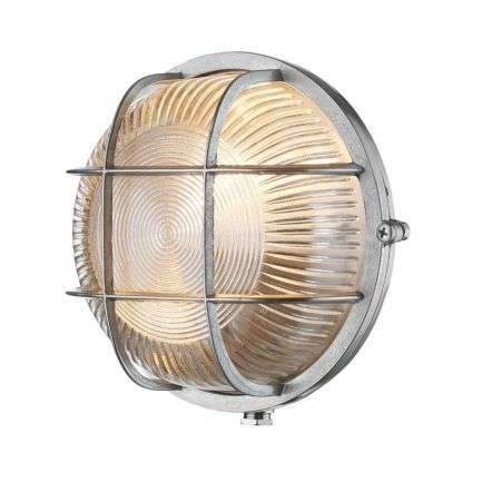 Admiral Round Wall Light Nickel
