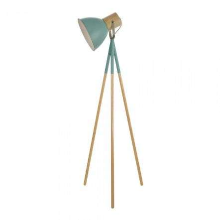 Adna Floor Lamp Green & Wood