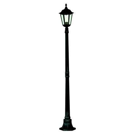 Alex Ip44 Black Outdoor Post Lamp With Clear Glass