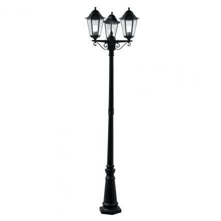 Alex Outdoor 2270mm 3 Light Post Lamp Black