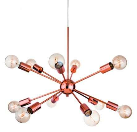Alfa 12 Light Pendant in Copper Finish