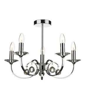 Allegra 5-Light Polished Chrome Fitting