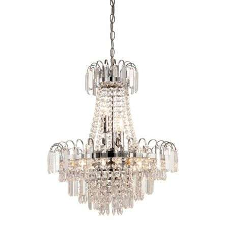 Amadis 6-Light Polished Chrome Chandelier