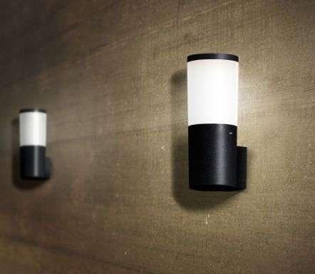 Amelia Black Opal LED 6W Bollard Wall Light