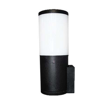 Amelia Black Opal LED 6W Bollard Wall Light