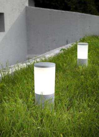 Amelia Grey Opal Bollard Spike Light LED 6W