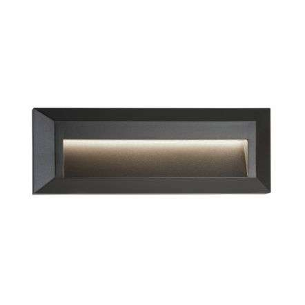 Ankle Outdoor LED Slot Wall Light Dark Grey