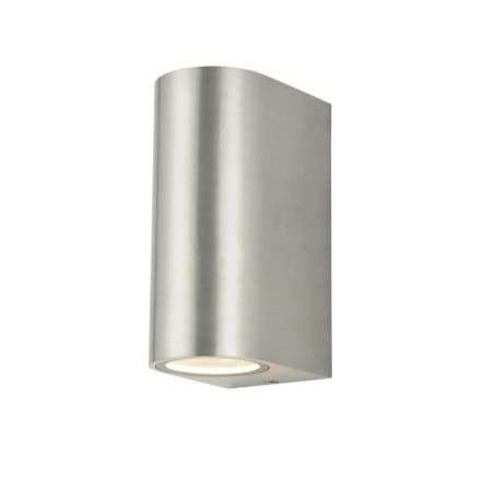 Antar Up and Down Wall Light in Stainless Steel