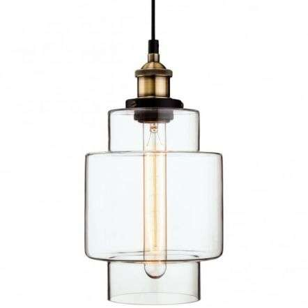 Antique Quirky Clear Glass Jar Ceiling Pendant
