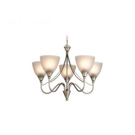 Antique Satin Steel 5 Wall Sconce Fitting
